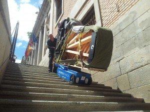 Máximo cuidado en el transporte del piano